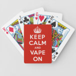 Guarde la calma y Vape encendido Baraja Cartas De Poker