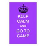 guarde la calma y vaya a acampar papeleria de diseño