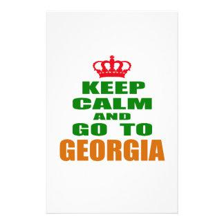 Guarde la calma y vaya a GEORGIA Papeleria