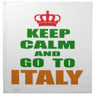 Guarde la calma y vaya a Italia Servilleta