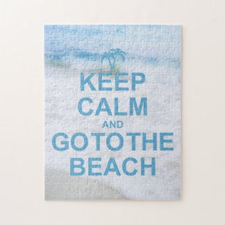 Guarde la calma y vaya a la playa rompecabezas