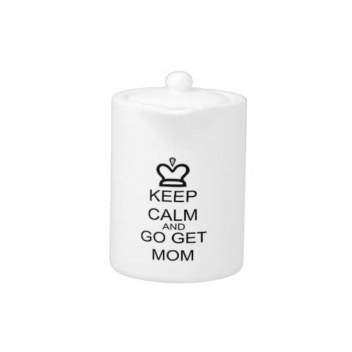 Guarde la calma y vaya consiguen a la mamá