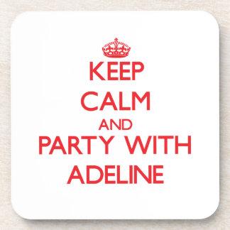 Guarde la calma y vaya de fiesta con Adelina Posavasos De Bebida