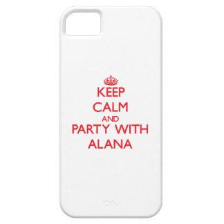 Guarde la calma y vaya de fiesta con Alana iPhone 5 Carcasas