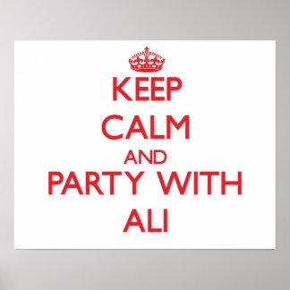 Guarde la calma y vaya de fiesta con Ali