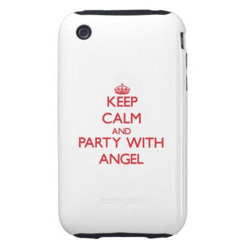 Guarde la calma y vaya de fiesta con ángel iPhone 3 tough coberturas