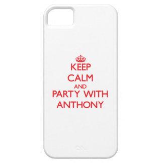Guarde la calma y vaya de fiesta con Anthony iPhone 5 Case-Mate Funda