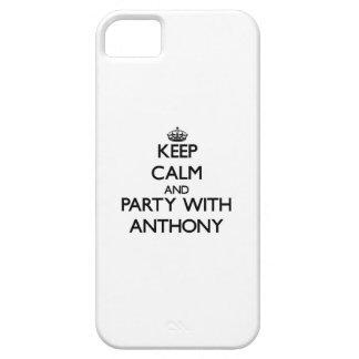 Guarde la calma y vaya de fiesta con Anthony iPhone 5 Case-Mate Protectores