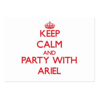 Guarde la calma y vaya de fiesta con Ariel Plantilla De Tarjeta De Visita