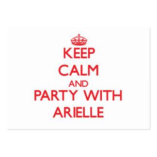 Guarde la calma y vaya de fiesta con Arielle Tarjeta De Visita