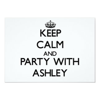 Guarde la calma y vaya de fiesta con Ashley Invitaciones Personalizada