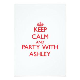 Guarde la calma y vaya de fiesta con Ashley Comunicados Personalizados