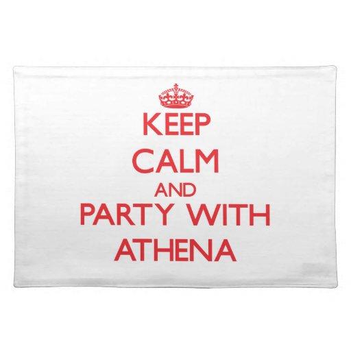 Guarde la calma y vaya de fiesta con Athena Mantel Individual
