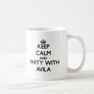 Guarde la calma y vaya de fiesta con Ávila Taza De Café