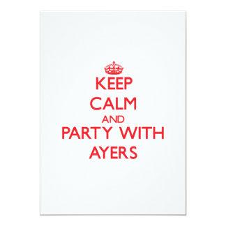 Guarde la calma y vaya de fiesta con Ayers Invitación Personalizada