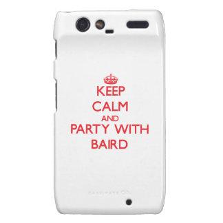 Guarde la calma y vaya de fiesta con Baird Motorola Droid RAZR Carcasas