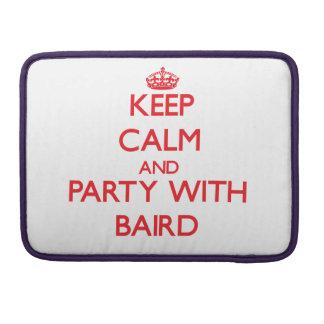 Guarde la calma y vaya de fiesta con Baird Fundas Para Macbooks