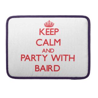 Guarde la calma y vaya de fiesta con Baird Fundas Para Macbook Pro