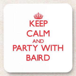 Guarde la calma y vaya de fiesta con Baird Posavasos De Bebidas