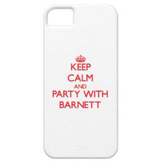 Guarde la calma y vaya de fiesta con Barnett iPhone 5 Carcasa