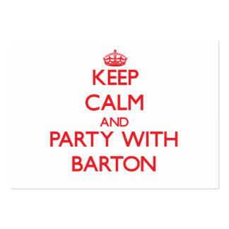 Guarde la calma y vaya de fiesta con Barton Tarjetas Personales