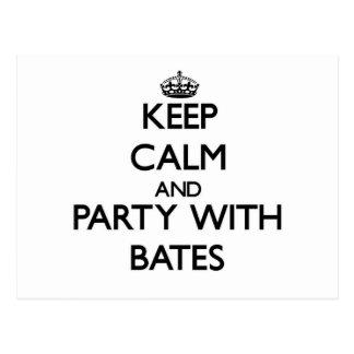 Guarde la calma y vaya de fiesta con Bates