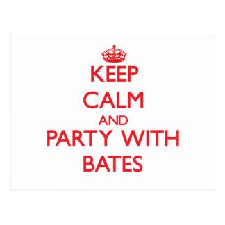 Guarde la calma y vaya de fiesta con Bates Postal