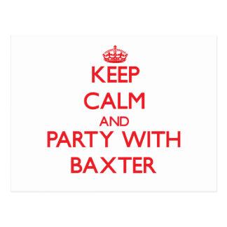 Guarde la calma y vaya de fiesta con Baxter Postal
