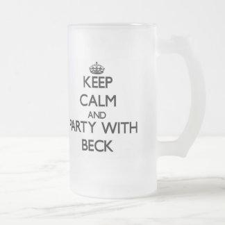 Guarde la calma y vaya de fiesta con Beck Taza De Café
