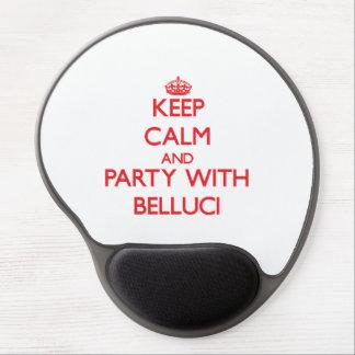 Guarde la calma y vaya de fiesta con Belluci Alfombrilla De Ratón Con Gel