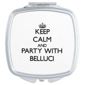 Guarde la calma y vaya de fiesta con Belluci Espejos Compactos
