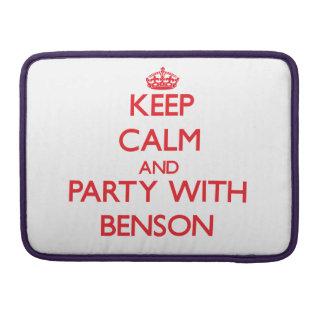 Guarde la calma y vaya de fiesta con Benson Funda Para Macbooks