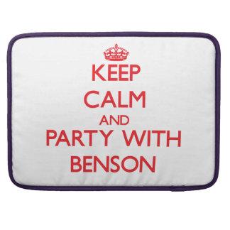 Guarde la calma y vaya de fiesta con Benson Fundas Macbook Pro