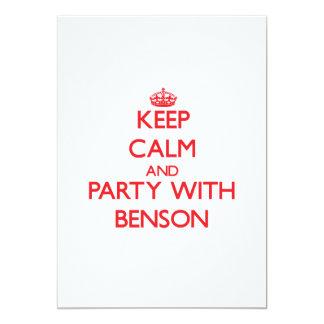 """Guarde la calma y vaya de fiesta con Benson Invitación 5"""" X 7"""""""