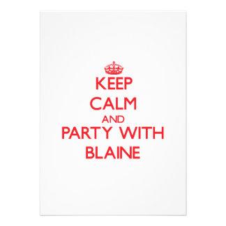 Guarde la calma y vaya de fiesta con Blaine Comunicado