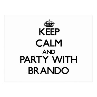 Guarde la calma y vaya de fiesta con Brando Postales
