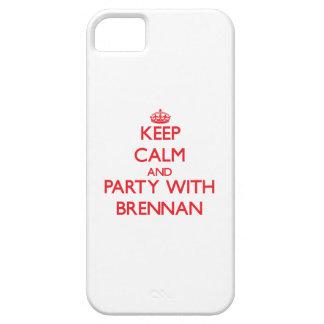 Guarde la calma y vaya de fiesta con Brennan iPhone 5 Carcasa