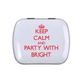 Guarde la calma y vaya de fiesta con brillante jarrones de caramelos