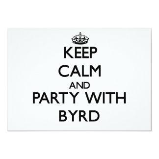 Guarde la calma y vaya de fiesta con Byrd Comunicado