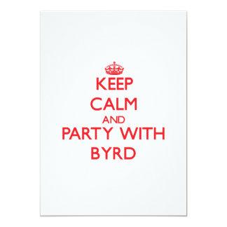 Guarde la calma y vaya de fiesta con Byrd Invitacion Personalizada