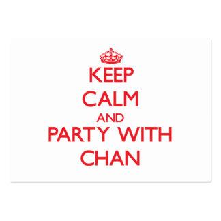 Guarde la calma y vaya de fiesta con Chan Tarjetas De Visita Grandes