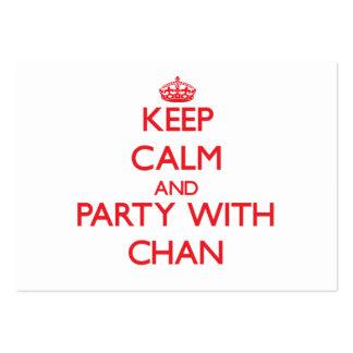 Guarde la calma y vaya de fiesta con Chan Tarjetas De Visita