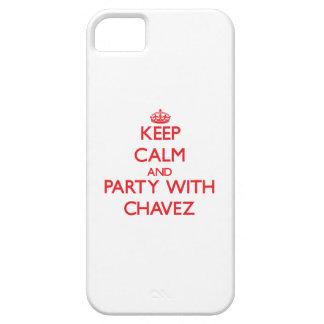 Guarde la calma y vaya de fiesta con Chavez iPhone 5 Protector