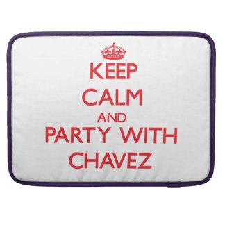Guarde la calma y vaya de fiesta con Chavez Fundas Para Macbooks
