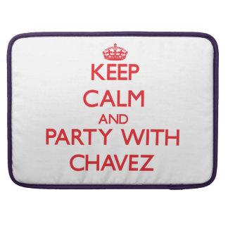 Guarde la calma y vaya de fiesta con Chavez Fundas Macbook Pro
