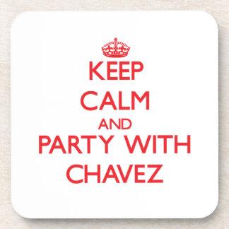 Guarde la calma y vaya de fiesta con Chavez Posavasos