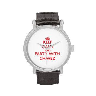 Guarde la calma y vaya de fiesta con Chavez Reloj