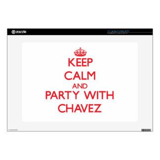 Guarde la calma y vaya de fiesta con Chavez 38,1cm Portátil Calcomanía