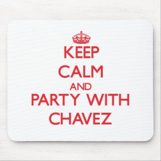 Guarde la calma y vaya de fiesta con Chavez Tapetes De Raton