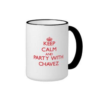 Guarde la calma y vaya de fiesta con Chavez Taza A Dos Colores